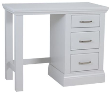 Coelo Full Painted Single Pedestal Dressing Table