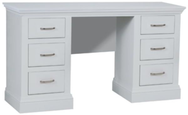 Coelo Full Painted Double Pedestal Dressing Table