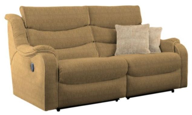 Denver Large 2 Seater Sofa Double M/Recliner A Fabric