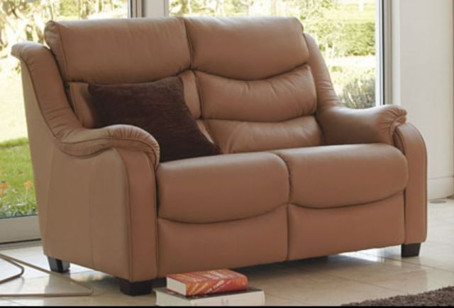 Denver 2 Seater Sofa Double M/Recliner Leather