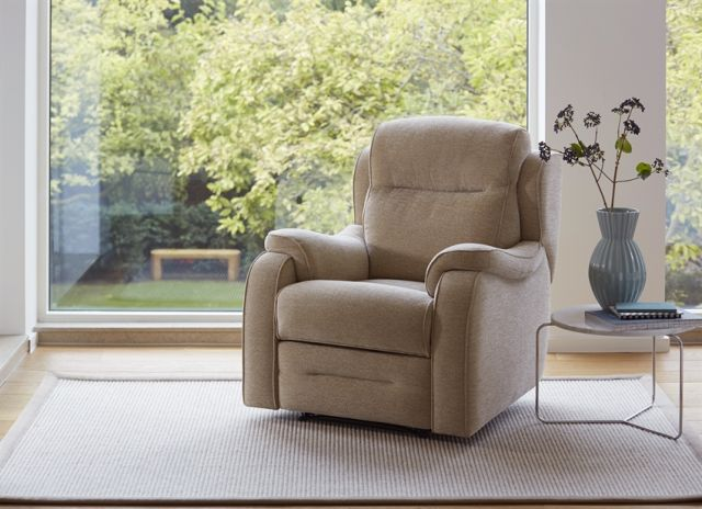 Boston Armchair Powered Single Motor Recliner Fabric A
