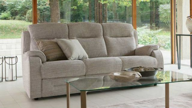 Boston 3 Seater Sofa Double Manual Recliner Fabric A