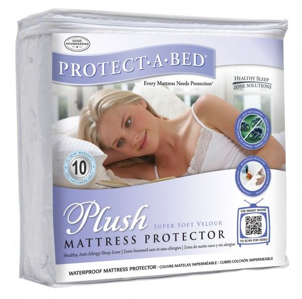 Plush 90cm Single Mattress Protector