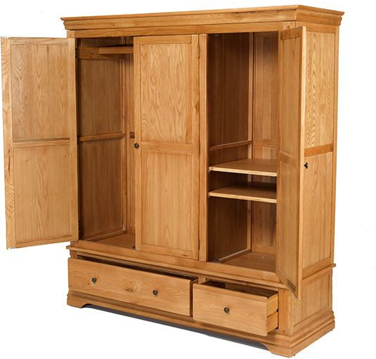 Knightsbridge - Triple Wardrobe With Drawer