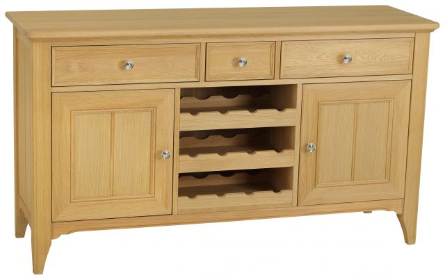 New England Wide Sideboard with Wine Rack
