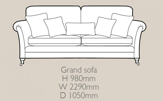 Glasgow - Grand Sofa F Fabric