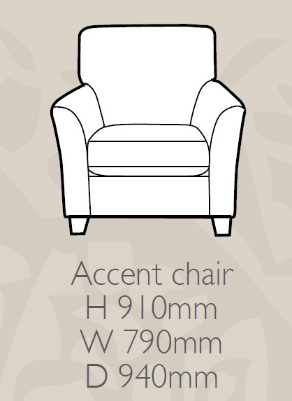 Glasgow - Gallery Accent Chair F Fabric