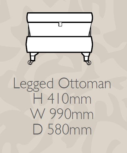 Glasgow - Legged Ottoman F Fabric