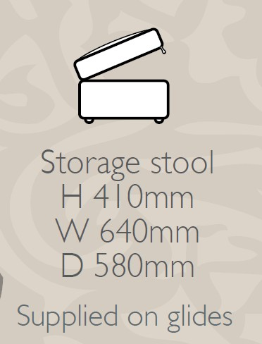 Glasgow - Storage Stool F Fabric