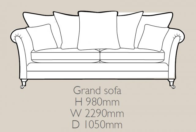 Perth - 3 Seater Sofa F Fabric