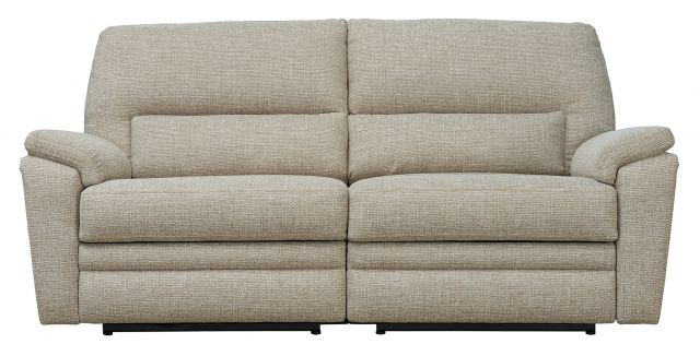 Parker Knoll Hampton - Large 2 Seater Sofa Double Manual Recliner A Grade Fabric