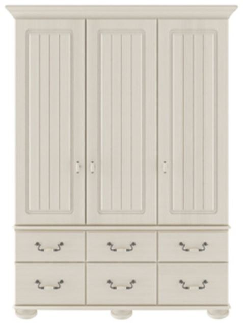 Signature Cream 3 Door / 6 Drawer Combi