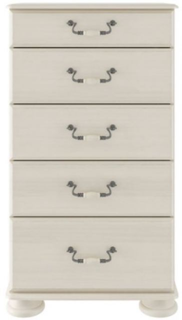 Signature Cream 5 Drawer Chest