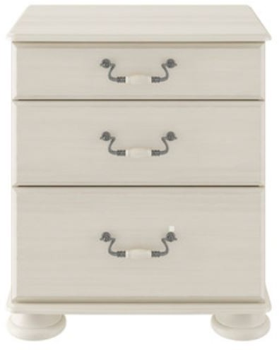 Signature Cream 3 Drawer Wide Chest
