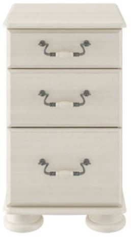 Signature Cream 3 Drawer Narrow Chest