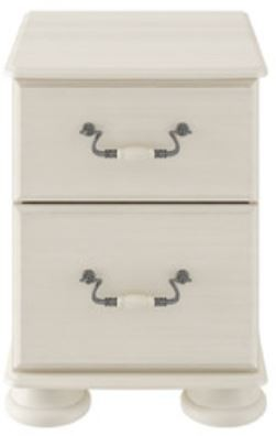 Signature Cream 2 Drawer Bedside Chest