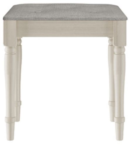 Signature Cream Stool Grey Pad