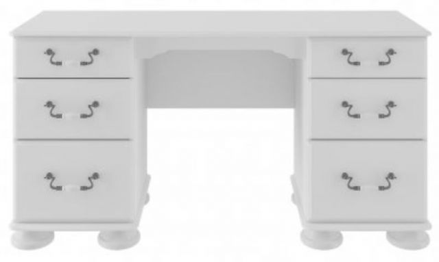 Signature White Double Pedestal Dressing Table