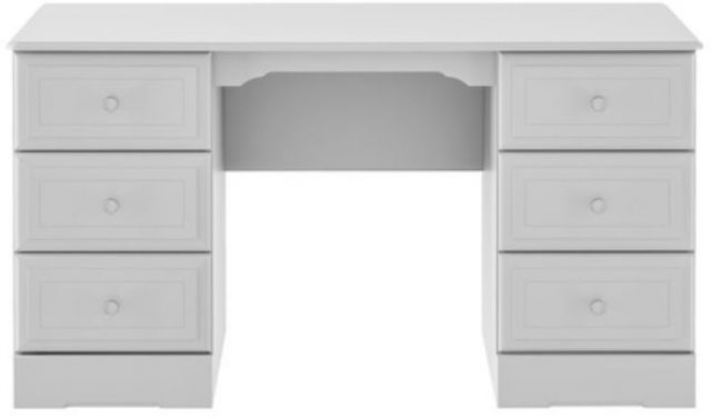 Nicole Grey Double Pedestal Dressing Table
