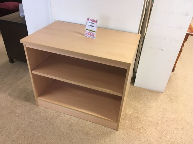 Home Office Bookcase Beech Finish