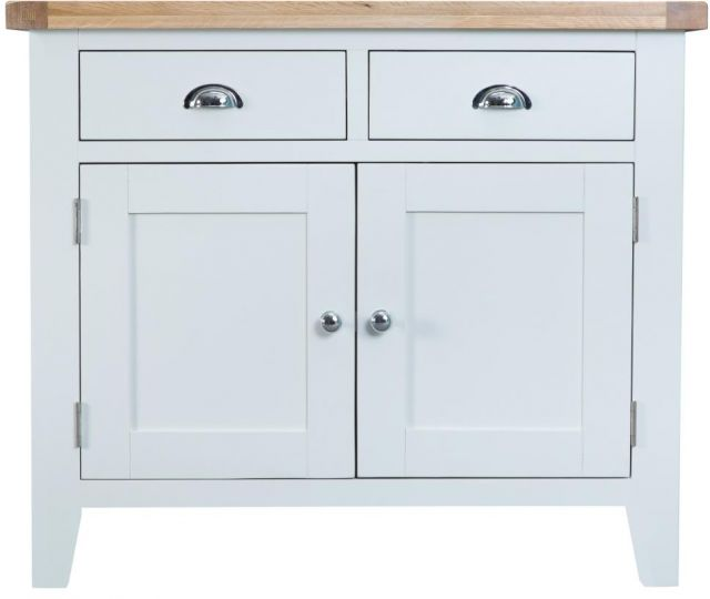 Padstow White 2 Drawer 2 Door Sideboard
