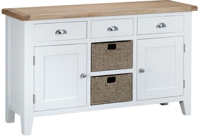 Padstow White Large Sideboard
