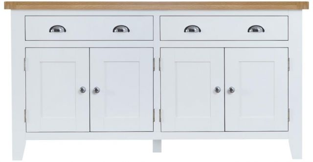 Padstow White 4 door Sideboard