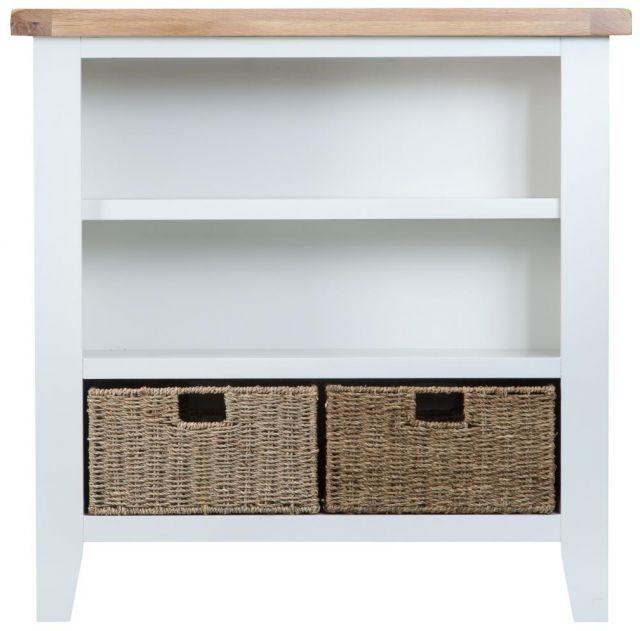 Padstow White Small Wide Bookcase