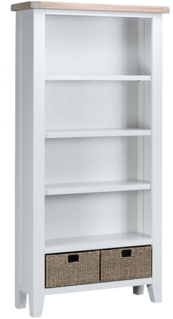 Padstow White Large Bookcase