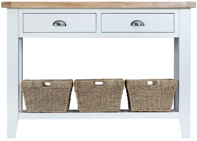 Padstow White Large Console Table