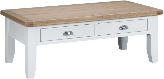 Padstow White Large Coffee Table