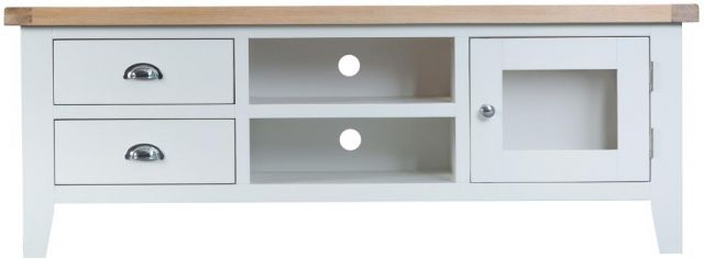 Padstow White Large TV Unit