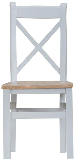 Padstow Grey Cross Back Chair Wooden