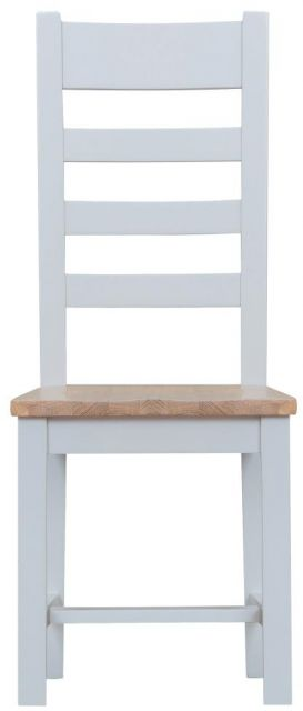 Padstow Grey Ladder Back Chair Wooden