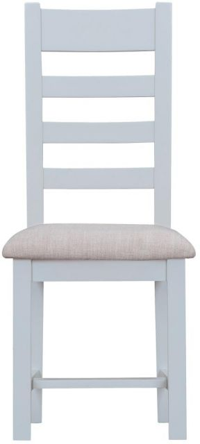 Padstow Grey Ladder Back Chair Fabric