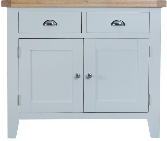 Padstow Grey 2 Drawer 2 Door Sideboard