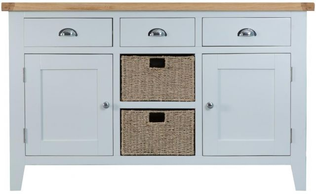 Padstow Grey Large Sideboard