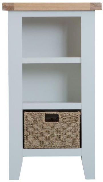 Padstow Grey Small Narrow Bookcase