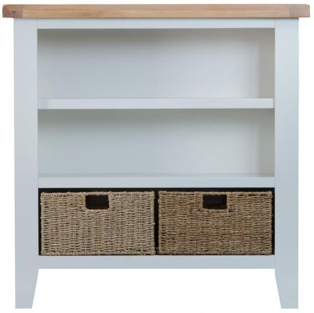 Padstow Grey Small Wide Bookcase