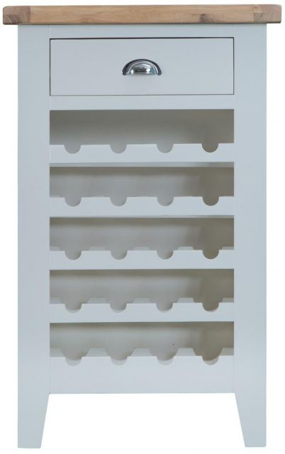 Padstow Grey Wine Cabinet