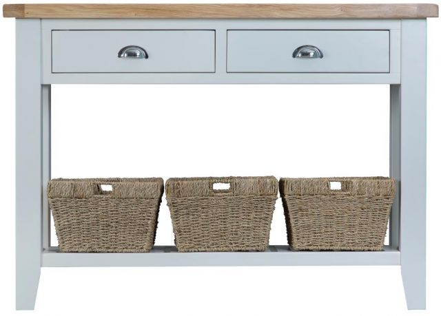 Padstow Grey Large Console Table