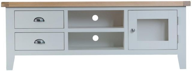 Padstow Grey Large TV Unit