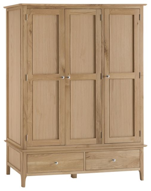 Delta Bedroom Large 3 Door Wardrobe with 2 Drawers