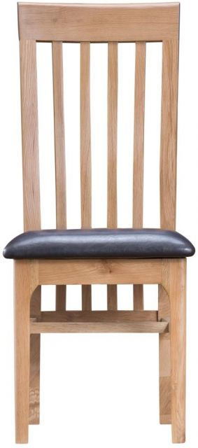 Delta Dining Slat Back Chair PU