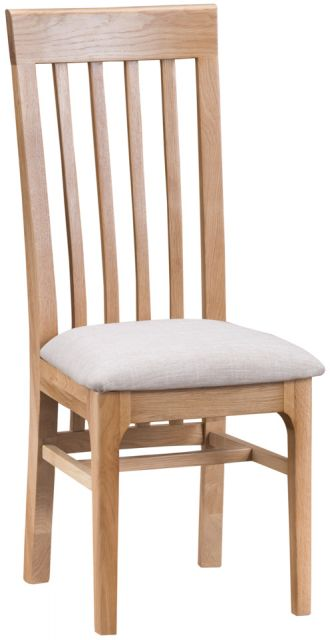 Delta Dining Slat Back Chair Fabric