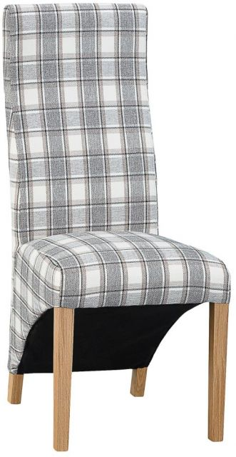 Wave Back Chair - Cappucino Check