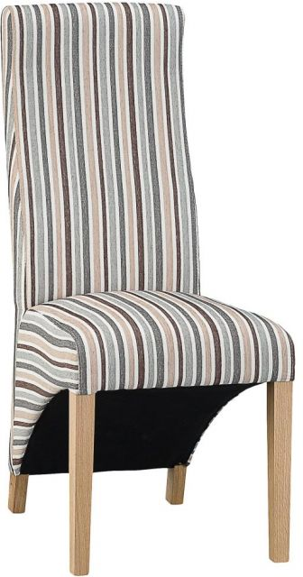 Wave Back Chair - Duck Egg Blue Stripe