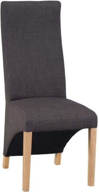 Wave Back Chair - Plain Charcoal