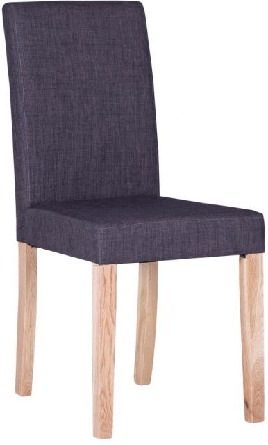 Square Back Chair Charcoal-Natural Leg