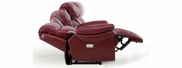 Edgar - 2 Seat Powered Recliner (With Power Headrest) Leather/Bonded